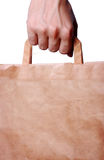 Hand holding shopping bag Stock Photography