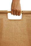 Hand holding shopping bag Stock Photo