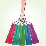 Hand Holding Shopping Bag Royalty Free Stock Photography