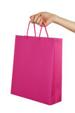 Hand holding shopping bag Royalty Free Stock Images