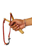 Hand Holding Slingshot Royalty Free Stock Photo