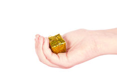 A hand holding a small box Stock Images