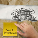 Hand holding smart investment Royalty Free Stock Photos