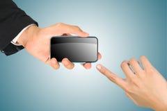 Free Hand Holding Smart Phone Stock Photo - 21344650