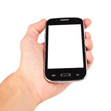 Hand holding smart phone Royalty Free Stock Photography