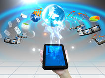 Hand holding smartphone Stock Image