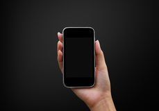 Hand holding Smartphones Royalty Free Stock Image