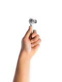 Hand holding Socket Spanner Wrenches Stock Photo