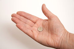 Hand holding some money. On light background Royalty Free Stock Photography