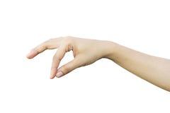 Hand holding something Stock Images