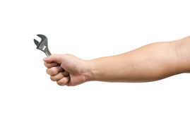 Hand holding a spanner Stock Photography