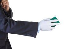 Hand holding sponge Stock Photography