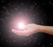 Hand Holding Star royalty free stock image