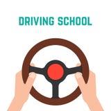 Hand holding steering wheel Stock Image