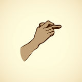 Hand holding a stone. Vector drawing Royalty Free Stock Photography