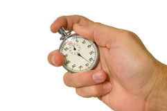Hand holding stopwatch Royalty Free Stock Photos