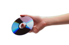 Hand holding storage/backup cd Royalty Free Stock Photography