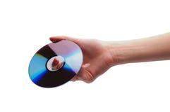 Hand holding storage/backup cd Royalty Free Stock Photography