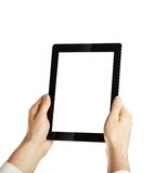 Hand Holding Tablet Royalty Free Stock Photo