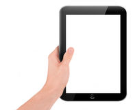 Hand holding a tablet pc computer Royalty Free Stock Images