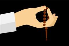 Hand - Holding Tasbih (islam prayer beads) Stock Images