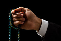Hand Holding a Tasbih Royalty Free Stock Photos