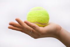 Free Hand Holding Tennis Ball Stock Images - 10838884