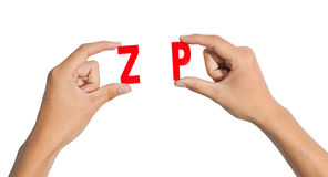 Hand Holding The Letter Stock Photo