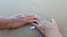 Hand holding together Stock Images