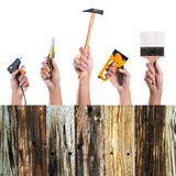 Hand holding tools Stock Photos