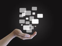 Free Hand Holding Touchscreen Royalty Free Stock Photo - 20594015