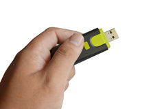 Hand holding USB Stock Images