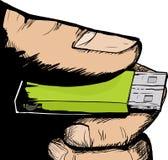 Hand Holding USB Thumbdrive Stock Photo