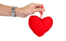 Hand Holding Valentine Day Heart II Royalty Free Stock Images