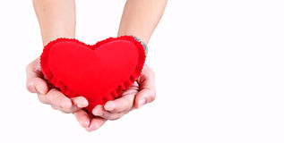 Hand Holding Valentine Day Heart III Stock Image