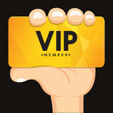 Hand holding vip card Stock Photos