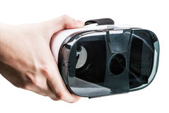 Hand holding virtual reality glasses royalty free stock photos