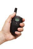 Hand holding walkie-talkie radio Stock Image