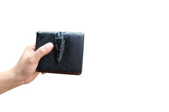 Hand holding wallet Stock Photos