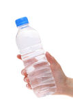 Hand holding water bottle Royalty Free Stock Image