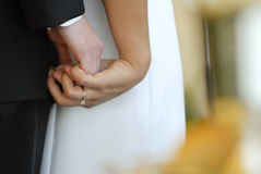 Hand holding wedding Stock Image