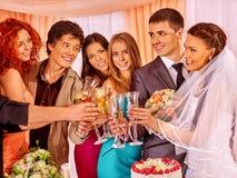 Hand holding wedding glass Royalty Free Stock Photo