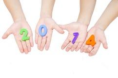 Hand holding 2014 Royalty Free Stock Photos