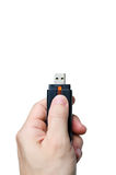 Hand holding WIFI usb stick Stock Images