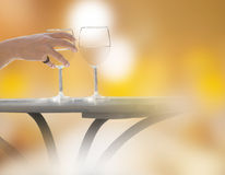 Hand holding wine glass Royalty Free Stock Images