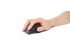 Hand holding wireless mouse Stock Photography