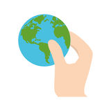 Hand holding world earth ecology Royalty Free Stock Photos