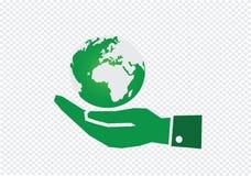 Hand holding world globe Stock Image