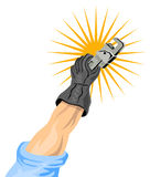 Hand holding a wrench Royalty Free Stock Photo