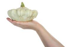 Hand holding zucchini Stock Photos
